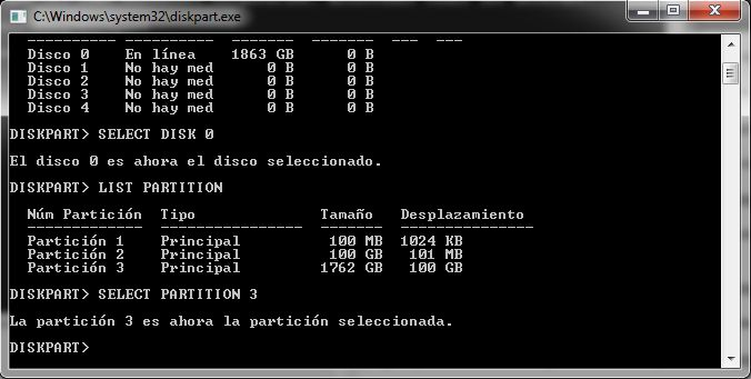 Famoso comando DISKPART de windows.